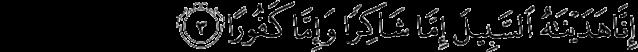 Surat Al-Insan Ayat 3